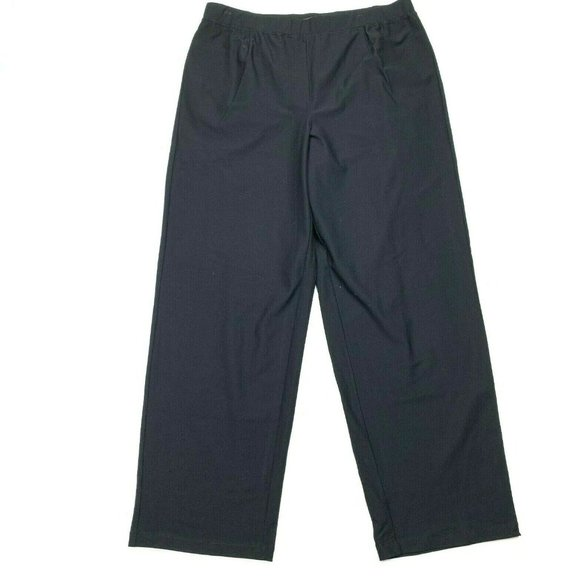 Eileen Fisher Pants - Eileen Fisher Black Crepe Straight Pants Stretch